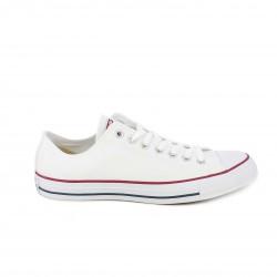 Zapatillas lona Converse all star blancas bajas con cordones - Querol online