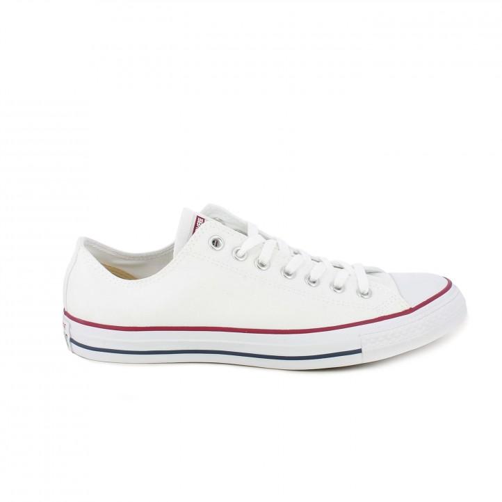 a2515b491 Zapatillas lona all star blancas bajas con cordones Converse ... converse  blancas bajas