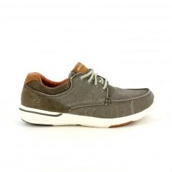 19e1395afb830 Zapatos sport Skechers memory foam marrones y grises con cordones - Querol  online