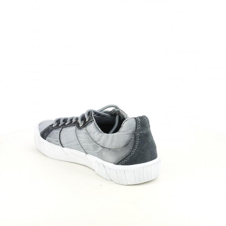 Zapatillas lona Replay tonos azules con cordones - Querol online