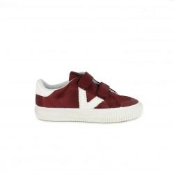 Zapatillas deporte Victoria rojas y blancas con doble velcro - Querol online