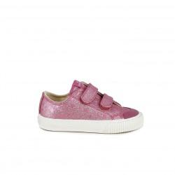 f6894f7907 Zapatillas lona Victoria rosas de purpurina con estrellas y velcros - Querol  online