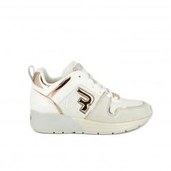 Zapatillas deportivas Replay blancas con plataforma y cordones - Querol online