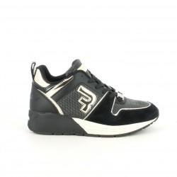 Zapatillas deportivas Replay negras con plataforma y cordones - Querol online