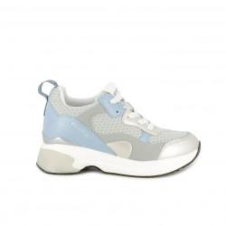 Zapatillas deportivas Replay azules, grises y blancas con plataforma - Querol online