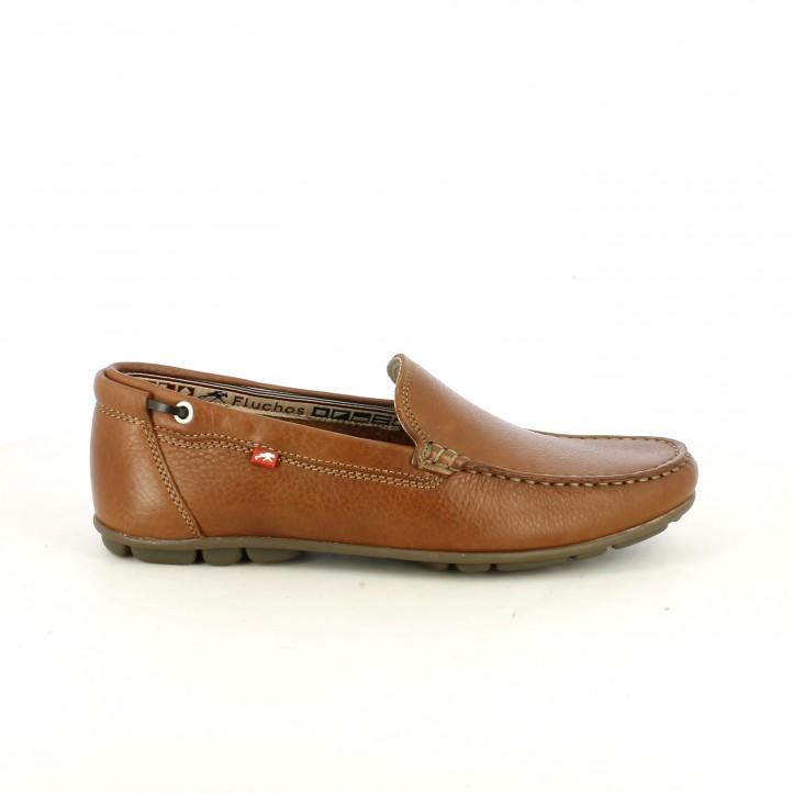 Zapatos sport Fluchos mocasines de piel marrones - Querol online