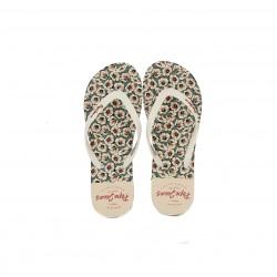 Chanclas Pepe Jeans blancas con estampado floral - Querol online