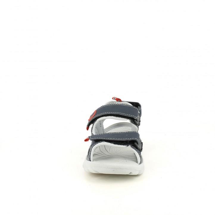 sandalias Gioseppo azules, grises y rojas - Querol online