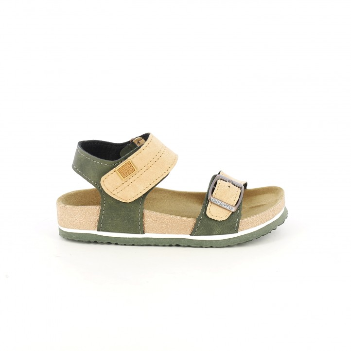 Sandalias Y Gioseppo Marrones Velcro Verdes Con Doble 5ARL3q4Scj