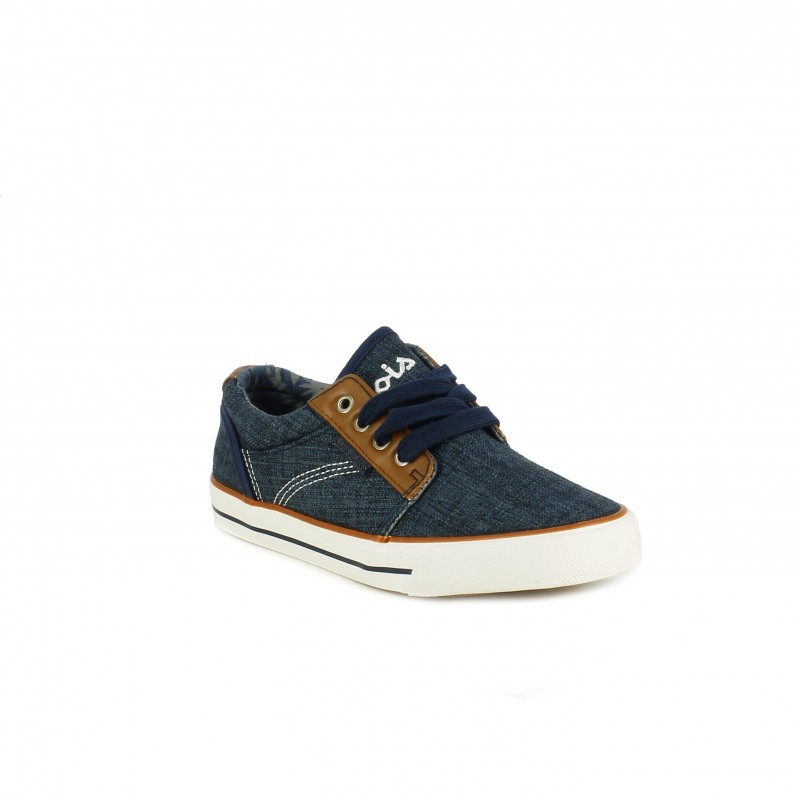 2f5974123a ... Zapatillas deporte Lois azules y marrones con cordones - Querol online  ...
