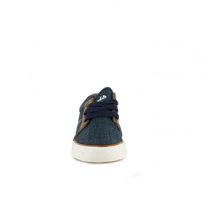 698552cf7f ... Zapatillas deporte Lois azules y marrones con cordones - Querol online