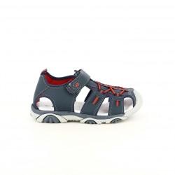 sandàlies QUETS! tancades blaves i vermelles amb velcro i elàstics - Querol online