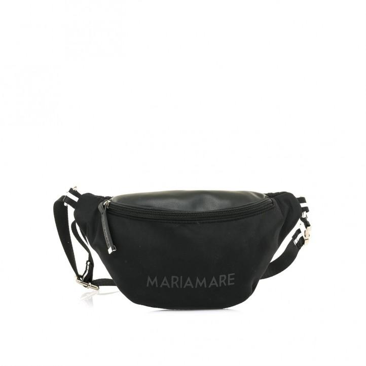 d0203ad635f Complementos Maria Mare riñonera negra con bolsillo y cremallera - Querol  online ...