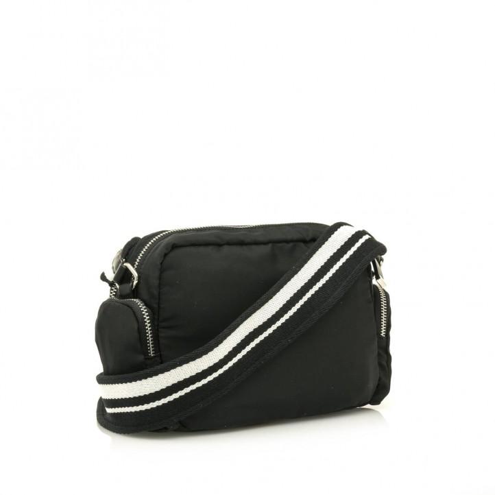 Complementos Maria Mare bolso negro con tres bolsillos exteriores y tira - Querol online