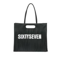 Complementos SixtySeven 67 bolso negro con asas y flecos - Querol online