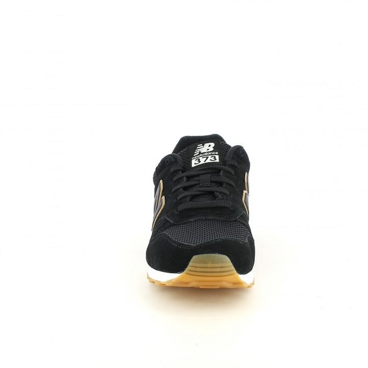 Zapatillas deportivas New Balance 373 negras y marrones con cordones - Querol online