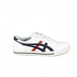 57675e8497785 Zapatillas deportivas Asics blancas y azules con cordones - Querol online