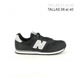 Zapatillas deporte New Balance 373 negras y grises