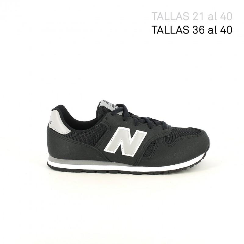 new balance 373 niño negro