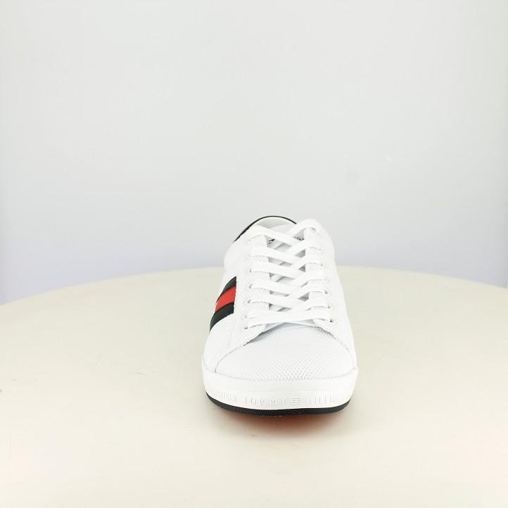 Sabatilles esportives Tommy Hilfiger blanques amb bandera lateral - Querol online
