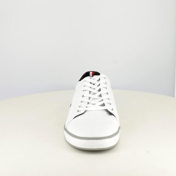 Zapatillas lona Tommy Hilfiger blancas con cordones - Querol online