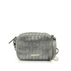 Complementos Maria Mare bolso gris metalizado con tira - Querol online