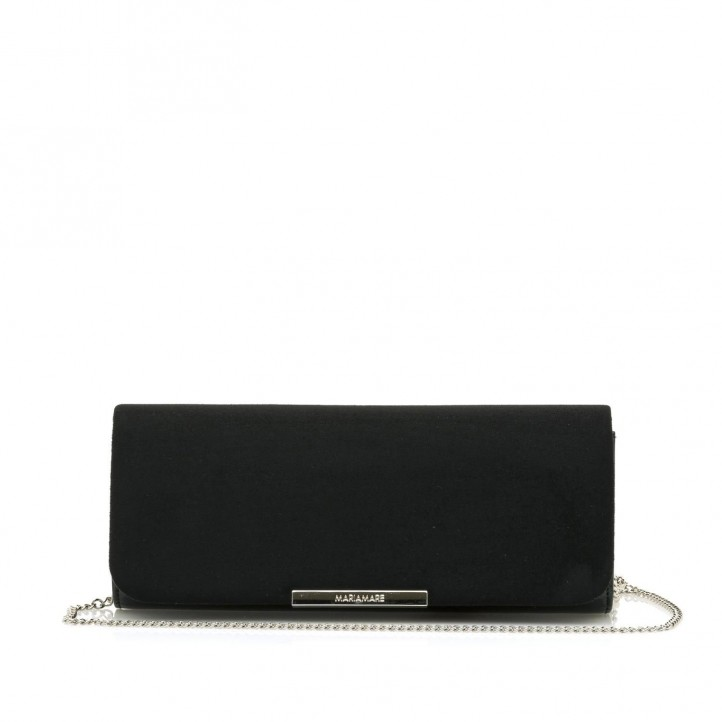 Complementos Maria Mare bolso de mano negro de diferenets texturas - Querol online