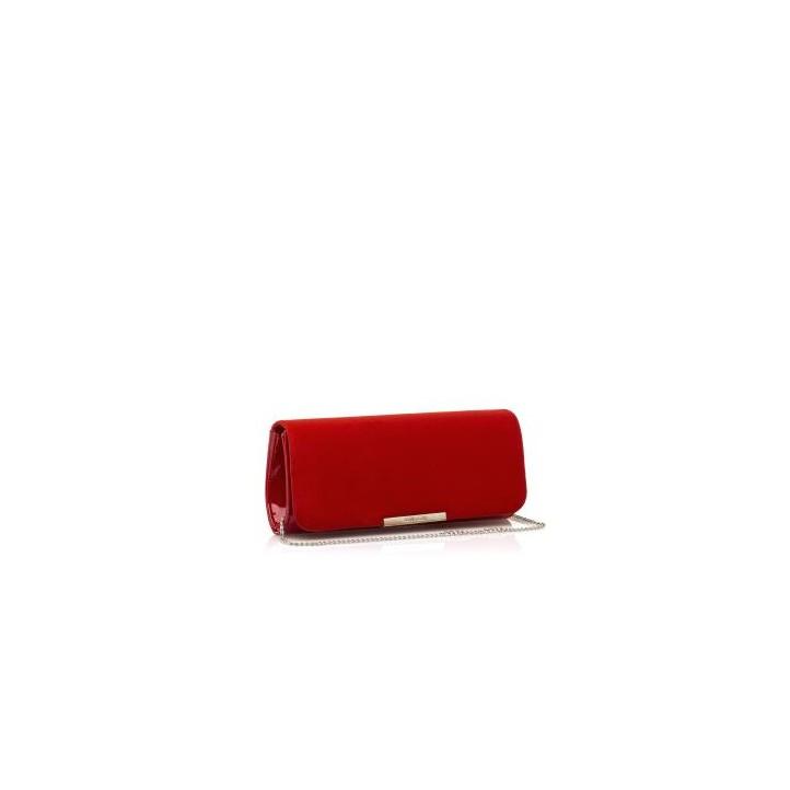 Complementos Maria Mare bolso de mano rojo de diferentes texturas - Querol online