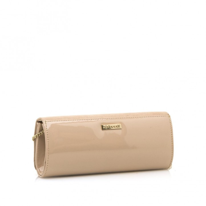 Complementos Maria Mare bolso de mano rosa de diferentes texturas - Querol online