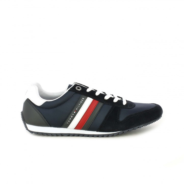 Zapatillas deportivas Tommy Hilfiger azul marino con detalles blancos y rojos - Querol online