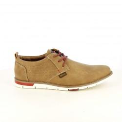 Zapatos sport Refresh marrones con cordones rojos - Querol online