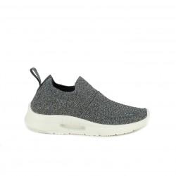 Zapatillas deportivas Xti grises metalizadas sin cordones tipo calcetín - Querol online
