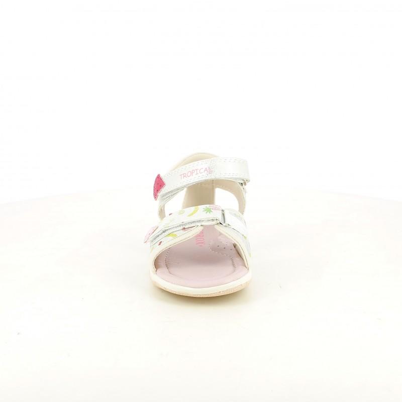 d084c5a6e ... sandalias Sprox cerradas grises y rosas con estampado de frutas -  Querol online ...
