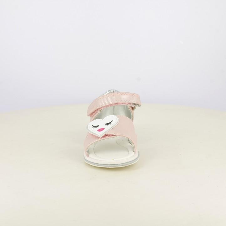 sandàlies Sprox tancades roses amb detalls platejats i doble velcro - Querol online