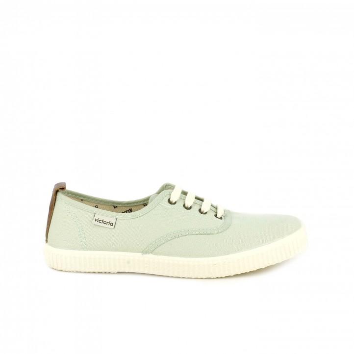 Victoria Lona Verdes Blancos Zapatillas Con Cordones wN8mvn0