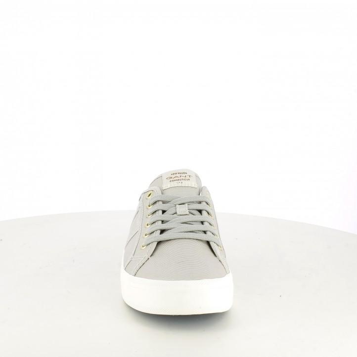 Zapatillas lona GANT grises con cordones - Querol online