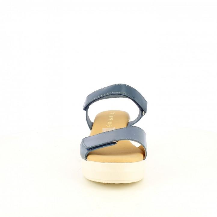 Sabates de falca Suite009 blaves amb doble velcro - Querol online