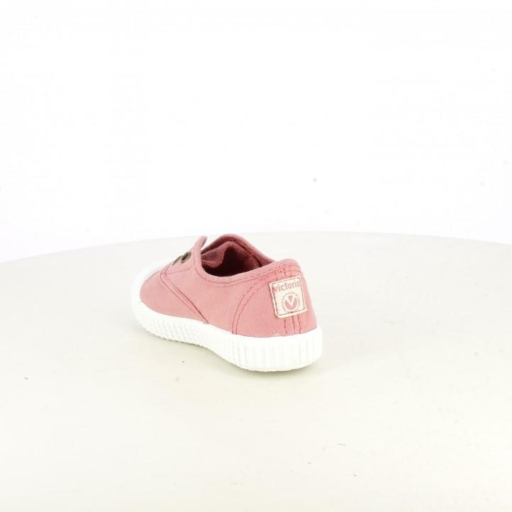 Zapatillas lona Victoria rosas con suela blanca - Querol online