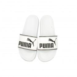 Chanclas Puma blancas con logo negro - Querol online