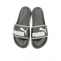 Chanclas Puma negras con logo blanco - Querol online