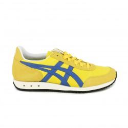 Zapatillas deportivas Asics amarillas y azules con interior blanco - Querol online