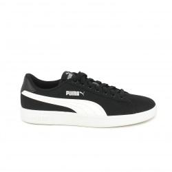 Zapatillas deportivas Puma smash v2 negras y blancas con cordones - Querol online