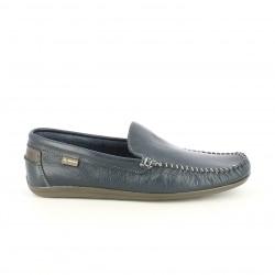 Zapatos sport DJSANTA mocasines de piel azules