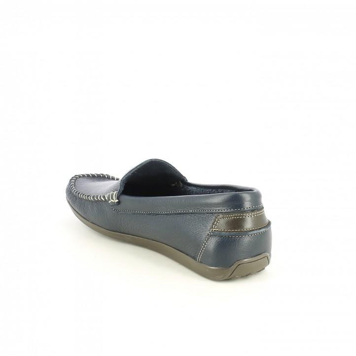 Zapatos sport DJSANTA mocasines de piel azules - Querol online