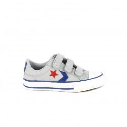 Zapatillas lona Converse star player grises con detalle rojo - Querol online