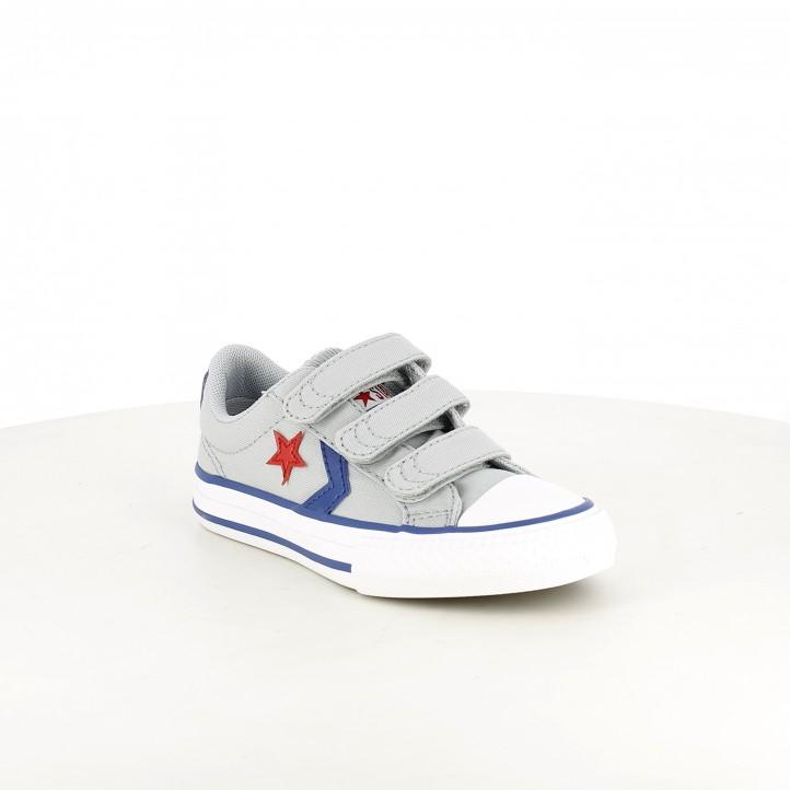 sabatilles lona Converse star player grises amb detall vermell - Querol online