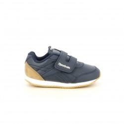 Zapatillas deporte Reebok royal azules con detalles marrones - Querol online