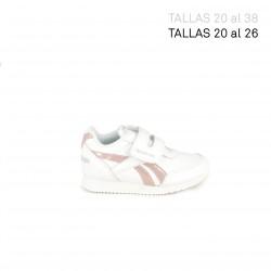 Zapatillas deporte Reebok royal blancas y rosas - Querol online