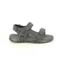 Sandalias Skechers negras con doble velcro - Querol online