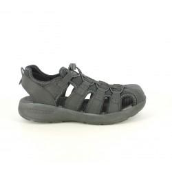 Sandalias Skechers negras cerradas con elástico - Querol online